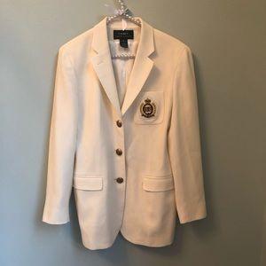 Ralph Lauren Classic Off White Blazer Size 8